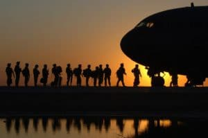 Scholarship - Soldiers Boarding Plane